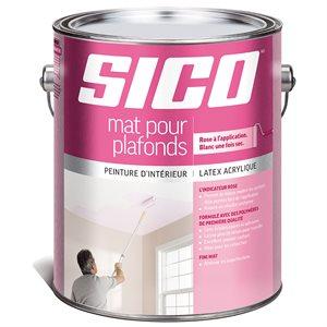 SICO MAT POUR PLAFONDS AVEC INDICATEUR ROSE - 3,78L