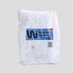 WHITE T-SHIRT WIPERS 10LBS