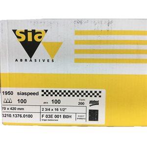 """SIAFAST BANDES VELCRO 2-3 / 4"""" X 16-1 / 2"""" GRIT 40 à 400 (BOÎTE)"""